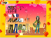 Click to Play Autumn Post Card Dress Up