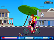 Click to Play Cycling Kiss