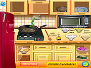 Click to Play Vegetable Frittata Cooking