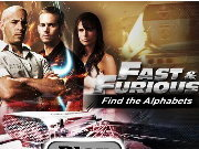 Click to Play Fast and Furious Find the Alphabets